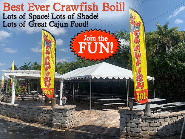 Best Crawfoish Boil! Come join the FUN - Lots of shade, Lots of Space, Lots of Great Cajun Food!