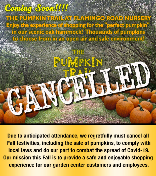 CANCELLED!!!! Pumpkin Trail is cancelled so we can keep everyone safe and healthy and do our part to avoid the spread of Covid-19.