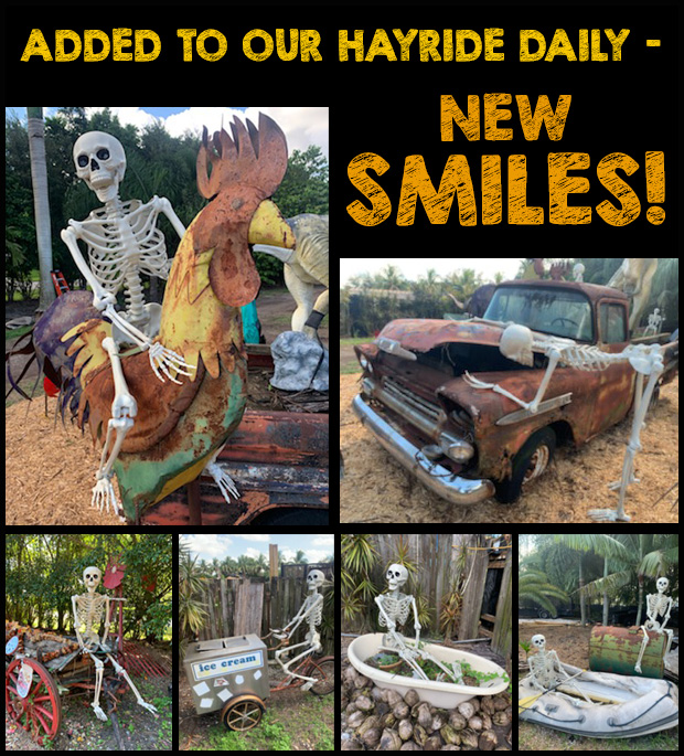 Adding smiles daily to our Hayride!
